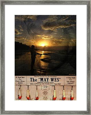 The Fishing Lure No3 Framed Print by Megan Dirsa-DuBois
