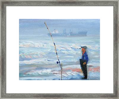 The Fishing Man Framed Print