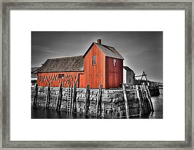 The Fishing Shack Framed Print
