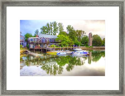 The Fishing Village Framed Print
