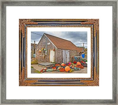 The Fishing Village Scene Framed Print by Betsy Knapp