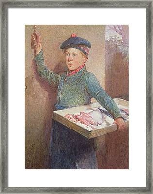 The Fishmongers Call Framed Print by Henry Benjamin Roberts