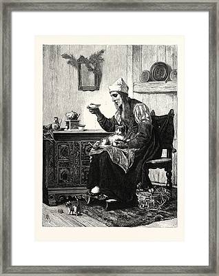 The Fishwife Of Marken. Marken Is A Peninsula Framed Print by Jordanian School