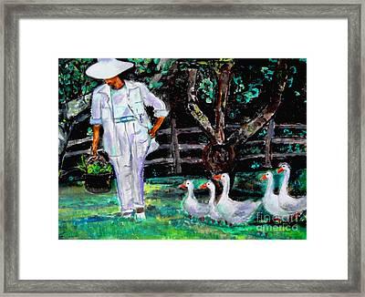 The Five Ducks Framed Print by Helena Bebirian