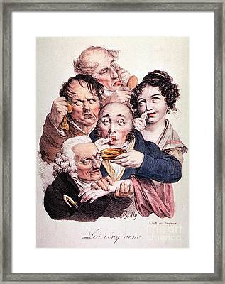 The Five Senses Framed Print