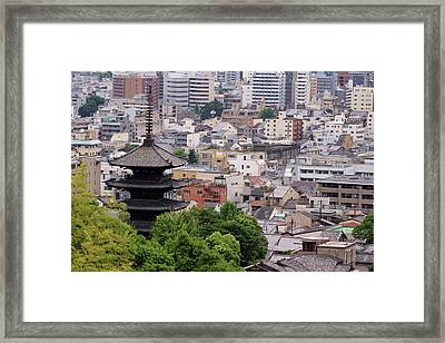 The Five-tiered Pagoda Of To-ji Framed Print by Paul Dymond