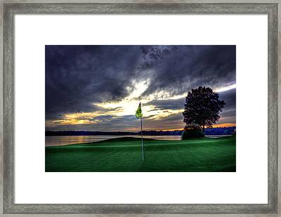 The Flag On Number 4 Framed Print by Reid Callaway