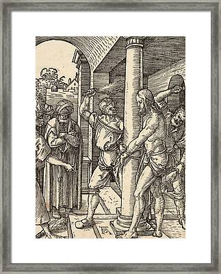 The Flagellation Framed Print by Albrecht Durer