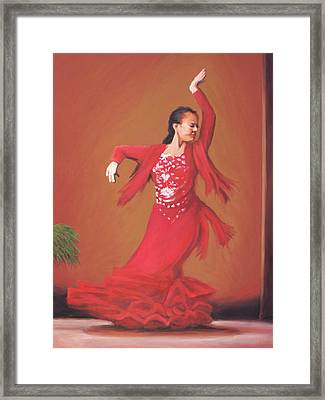 The Flamenco Dancer Framed Print by Charles Wallis