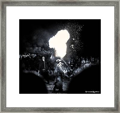 Framed Print featuring the photograph The Flare Thrower by Stwayne Keubrick