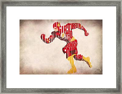 The Flash Framed Print by Ayse Deniz