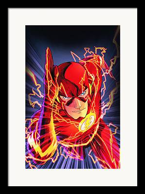 Captain America Drawings Framed Prints