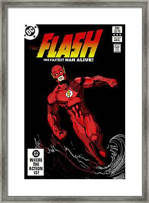 The Flash Framed Print by Mark Rogan