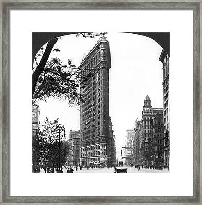 The Flatiron Building In Nyc Framed Print by Underwood Archives