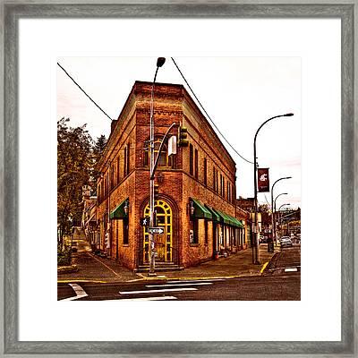The Flatiron Building - Pullman Washington Framed Print by David Patterson