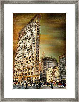 The Flat Iron Building Framed Print by Diana Angstadt