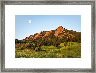The Flatirons - Spring Framed Print