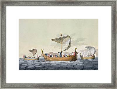 The Fleet Of William The Conqueror Framed Print