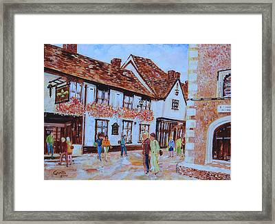 The Fleur De Lyse In St Albans Framed Print by Giovanni Caputo