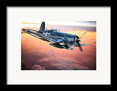 Plane Framed Prints