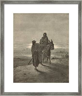 The Flight Into Egypt Framed Print by Antique Engravings