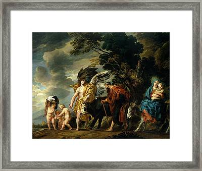 The Flight Into Egypt Framed Print by Jacob Jordaens