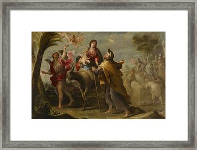 The Flight Into Egypt Framed Print by Jose Moreno