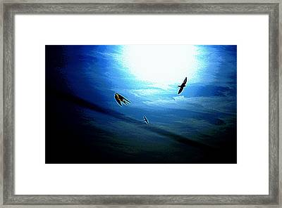Framed Print featuring the photograph The Flight by Miroslava Jurcik
