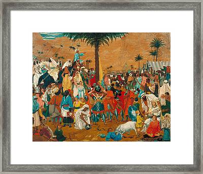 The Flight Out Of Egypt Framed Print by Mountain Dreams