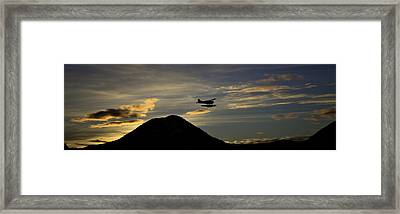 Framed Print featuring the pyrography The Flight To Penn Point. by Timothy Latta