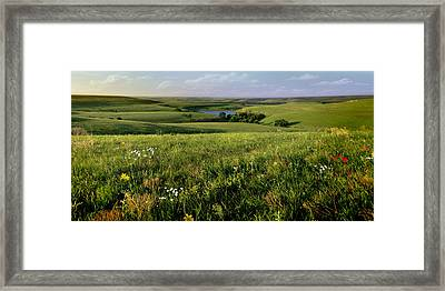 The Kansas Flint Hills From Rosalia Ranch Framed Print