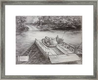 The Flint River Ferry In Georgia Framed Print