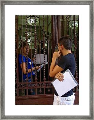 The Flirt - Sao Paulo Framed Print by Julie Niemela