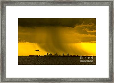 The Floating City  Framed Print