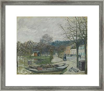 The Flood At Port-marly, 1876 Framed Print