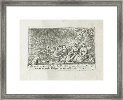 The Flood, Crispijn Van De Passe I, Ysack Greve Framed Print by Quint Lox