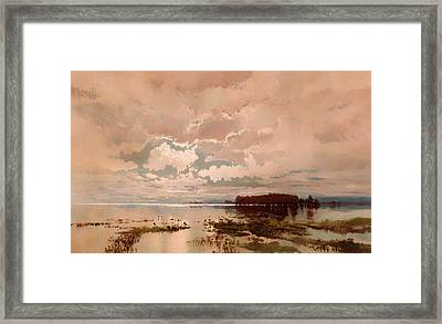 The Flood In The Darling 1890 Framed Print by Mountain Dreams