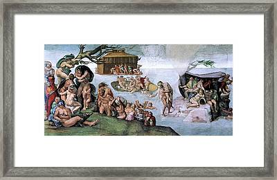 The Flood Framed Print by Michelangelo Buonarroti