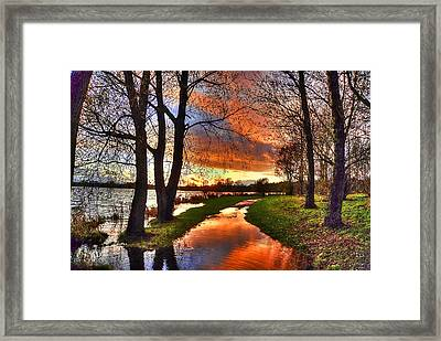 The Flooded Sunset Path Framed Print by Kim Shatwell-Irishphotographer