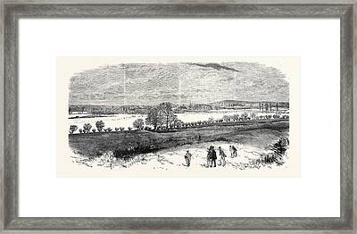 The Floods At Oxford From The North Hinkley Hill Uk 1869 Framed Print by English School