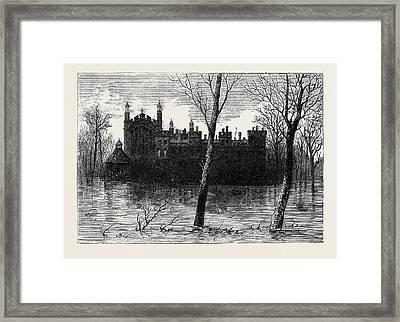 The Floods Scene At Eton Framed Print by English School