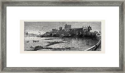 The Floods Scene At Windsor Framed Print by English School