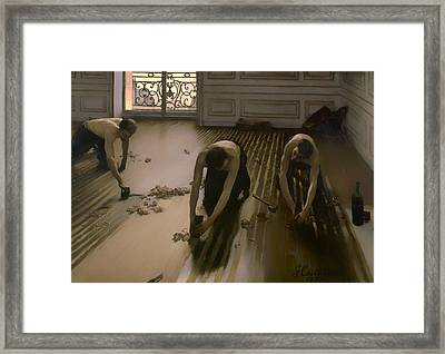 The Floor Scrapers Framed Print by Mountain Dreams
