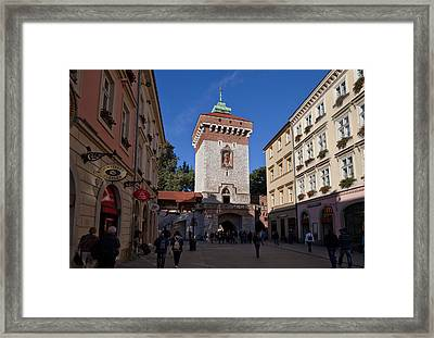 The Florianska Gate, Krakow, Poland Framed Print by Panoramic Images