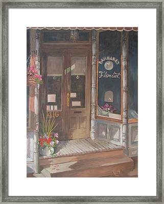 The Florist Framed Print by Tony Caviston