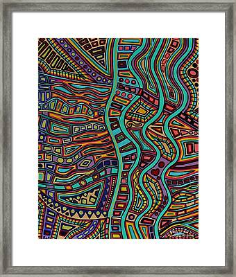 The Flow Framed Print by Barbara St Jean