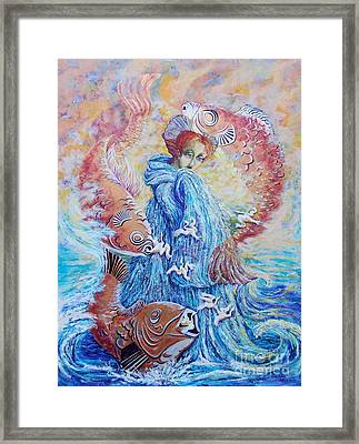 The Flow Of Creativity Framed Print