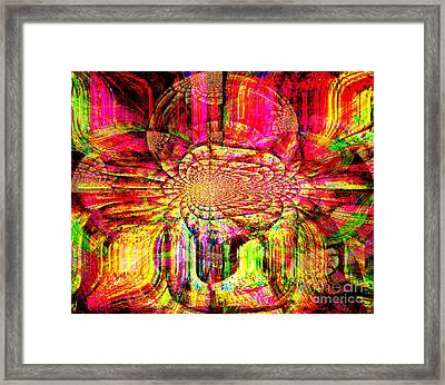The Flow Of Gentleness And Compassion Framed Print by Fania Simon