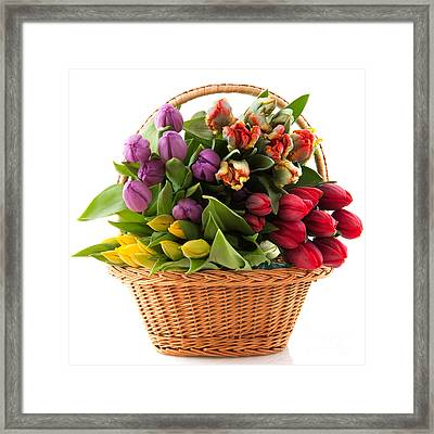 The Flower Basket Framed Print by Boon Mee