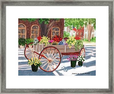 The Flower Cart Framed Print